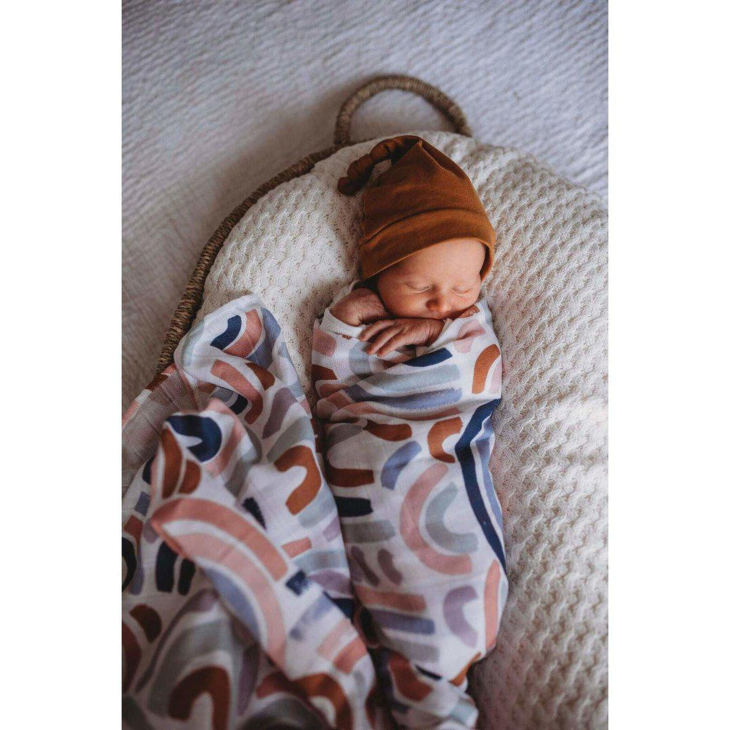 baby organic muslin wrap | rainbows - MUMMA + BUBBA COLLECTIVE