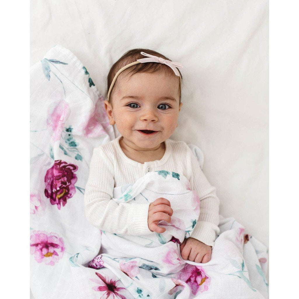 baby headband | velvet bow | light pink - MUMMA + BUBBA COLLECTIVE