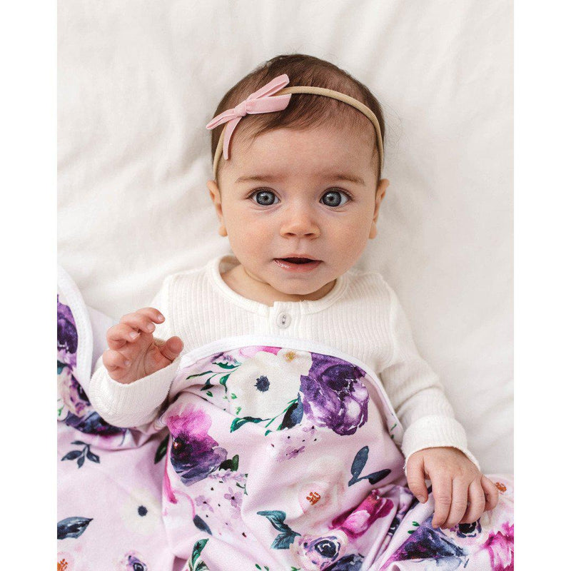 baby headband | velvet bow | rose pink - MUMMA + BUBBA COLLECTIVE
