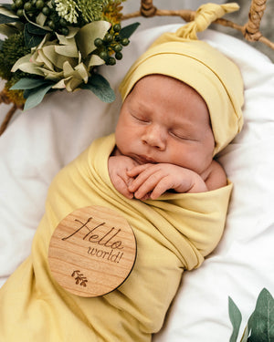 baby jersey wrap + knotted beanie set | gelato - MUMMA + BUBBA COLLECTIVE