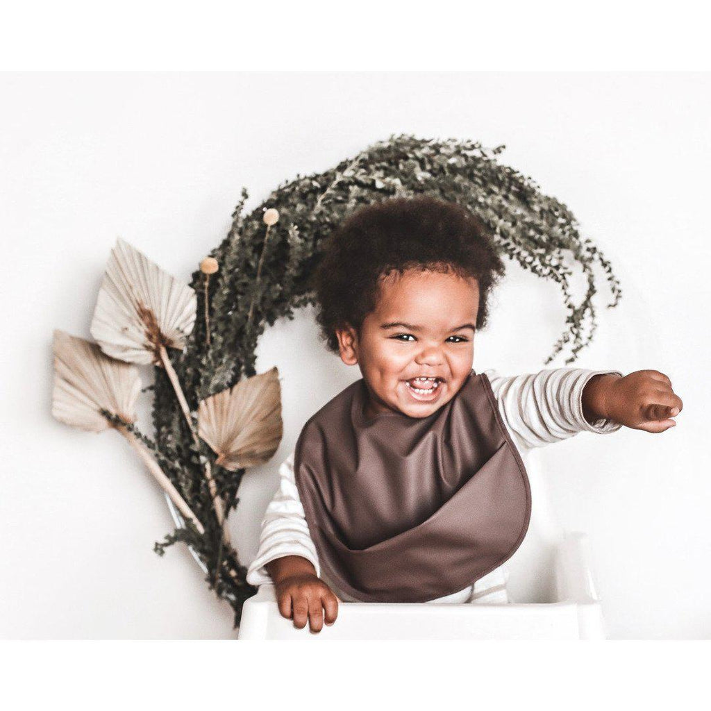 baby waterproof bib | brown lion - MUMMA + BUBBA COLLECTIVE