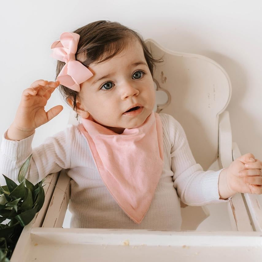 baby bandana dribble bib | soft pink - MUMMA + BUBBA COLLECTIVE