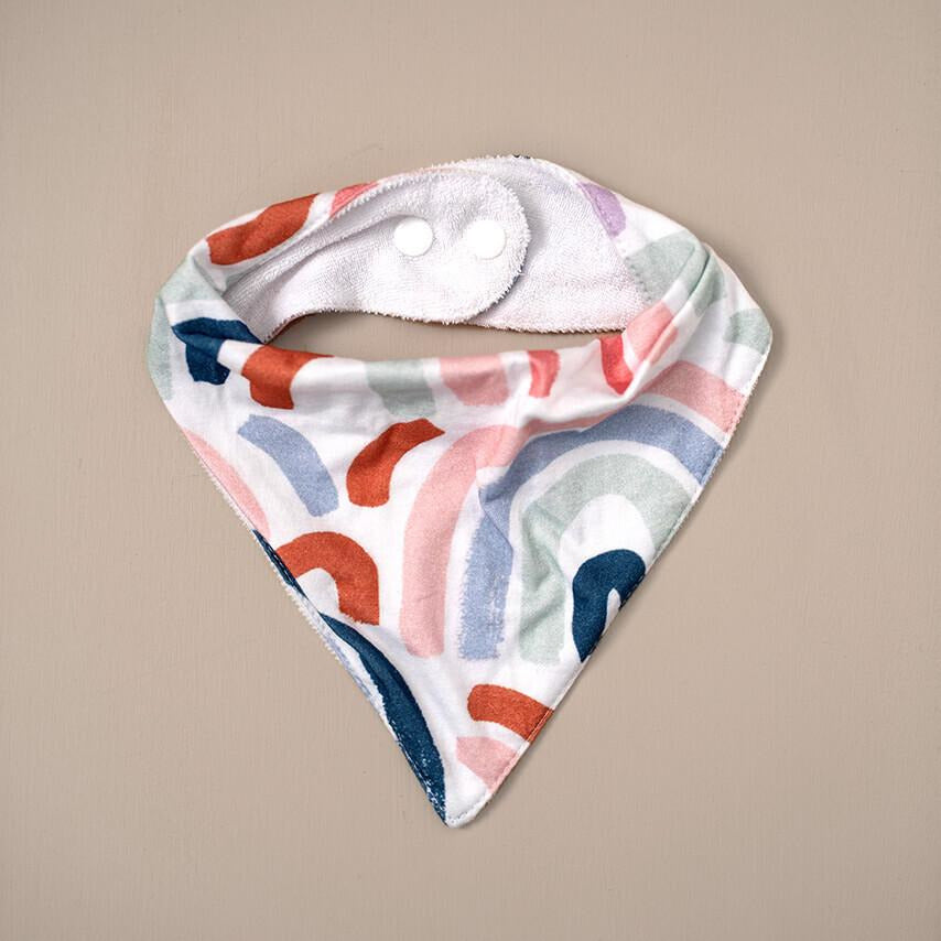 baby bandana dribble bib | rainbow - MUMMA + BUBBA COLLECTIVE