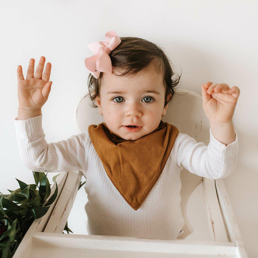 baby bandana dribble bib | bronze - MUMMA + BUBBA COLLECTIVE