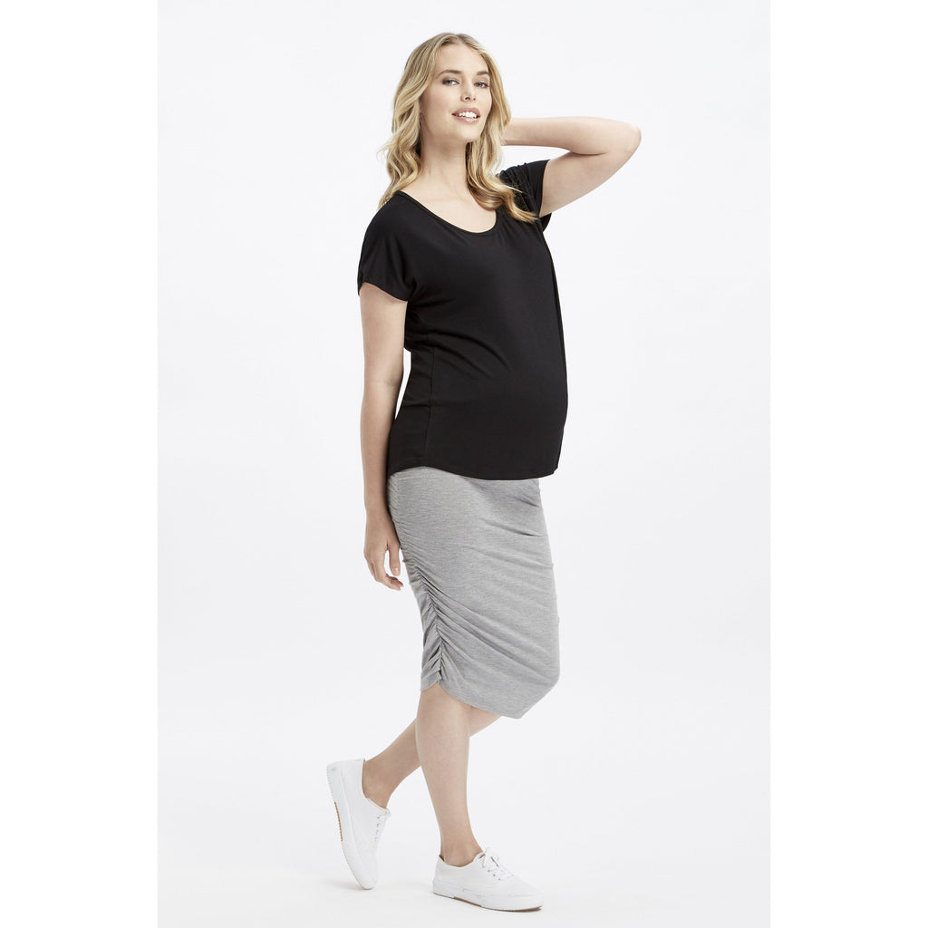 maternity top | eadie top | black - MUMMA + BUBBA COLLECTIVE