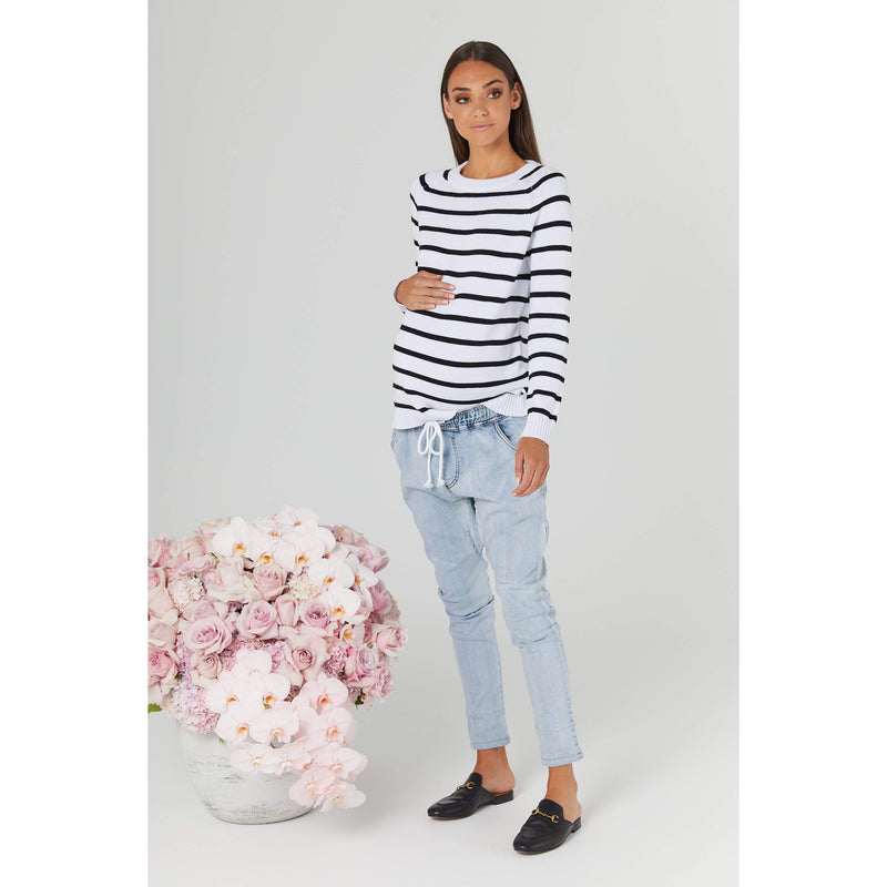 maternity denim pants | oxford denims | saltwash - MUMMA + BUBBA COLLECTIVE