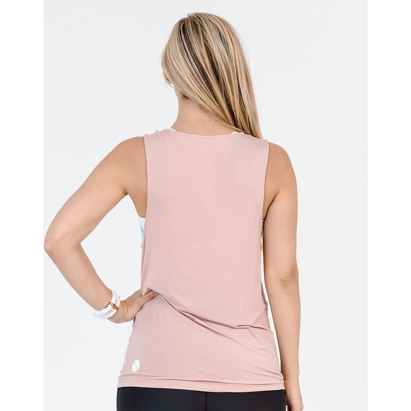 maternity + nursing active tank | blush pink - MUMMA + BUBBA COLLECTIVE