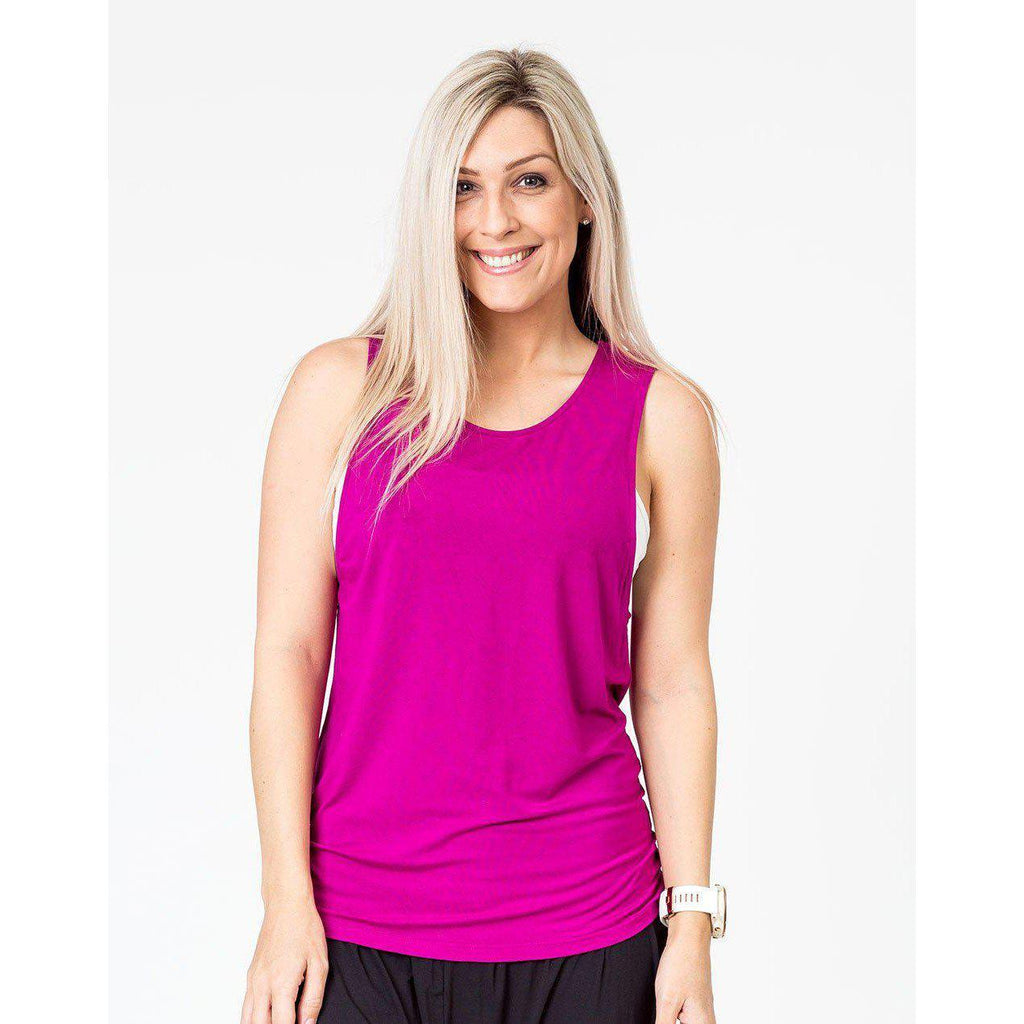 maternity + nursing active tank | mulberry pink - Mumma + Bubba Collective.