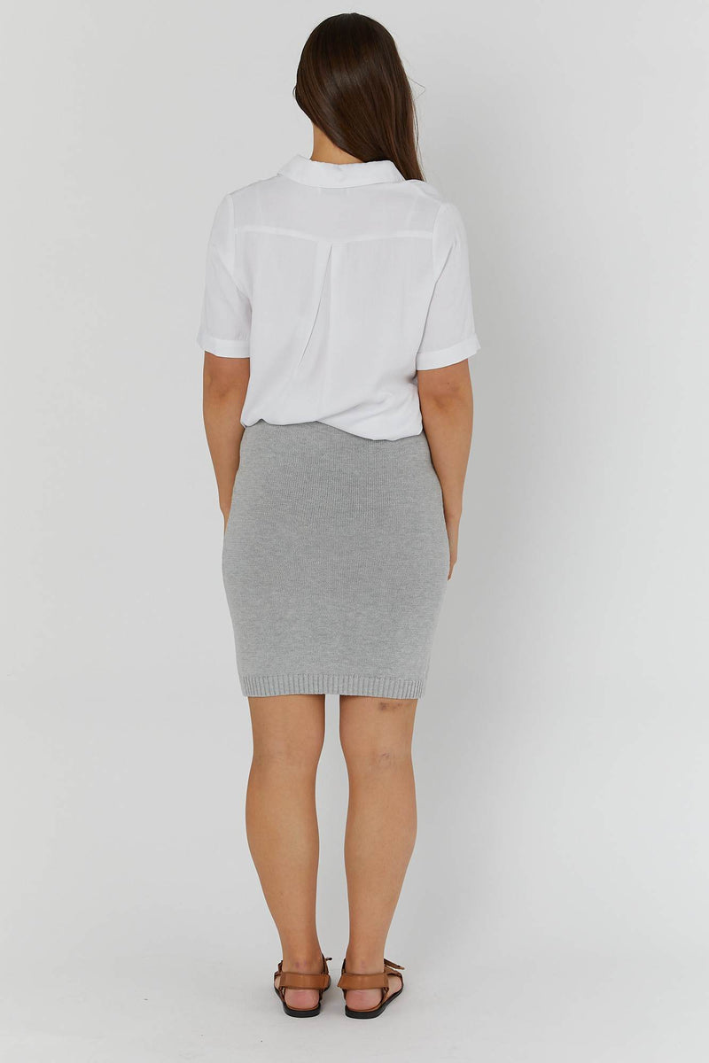 maternity skirt | knit skirt | silver grey - MUMMA + BUBBA COLLECTIVE