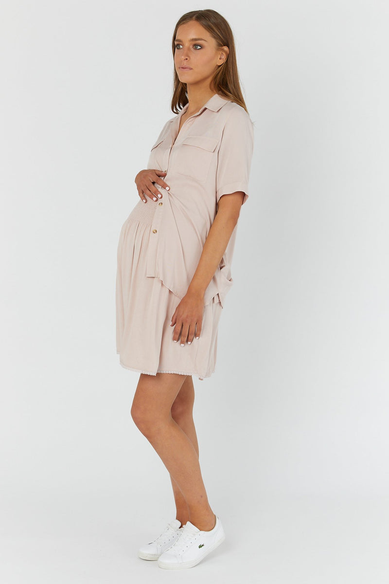 maternity skirt | theodore skirt | blush - MUMMA + BUBBA COLLECTIVE