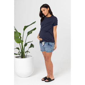 maternity + nursing tee | valance II  | navy - MUMMA + BUBBA COLLECTIVE