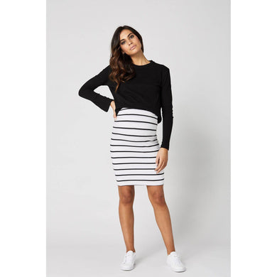 maternity skirt | downtown | stripes - MUMMA + BUBBA COLLECTIVE
