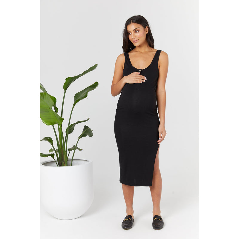 maternity + nursing dress | ellery dress | black - MUMMA + BUBBA COLLECTIVE