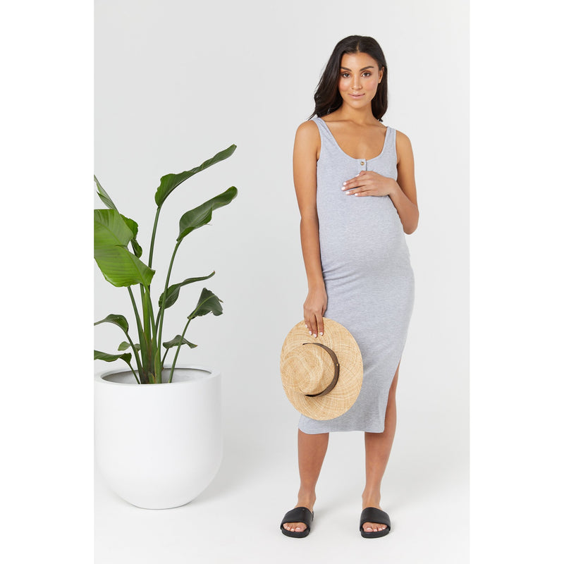 maternity + nursing dress | ellery dress | grey - MUMMA + BUBBA COLLECTIVE