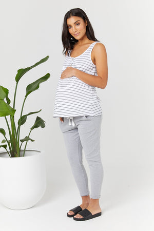 maternity + nursing tank | ellery tank | stripe - MUMMA + BUBBA COLLECTIVE