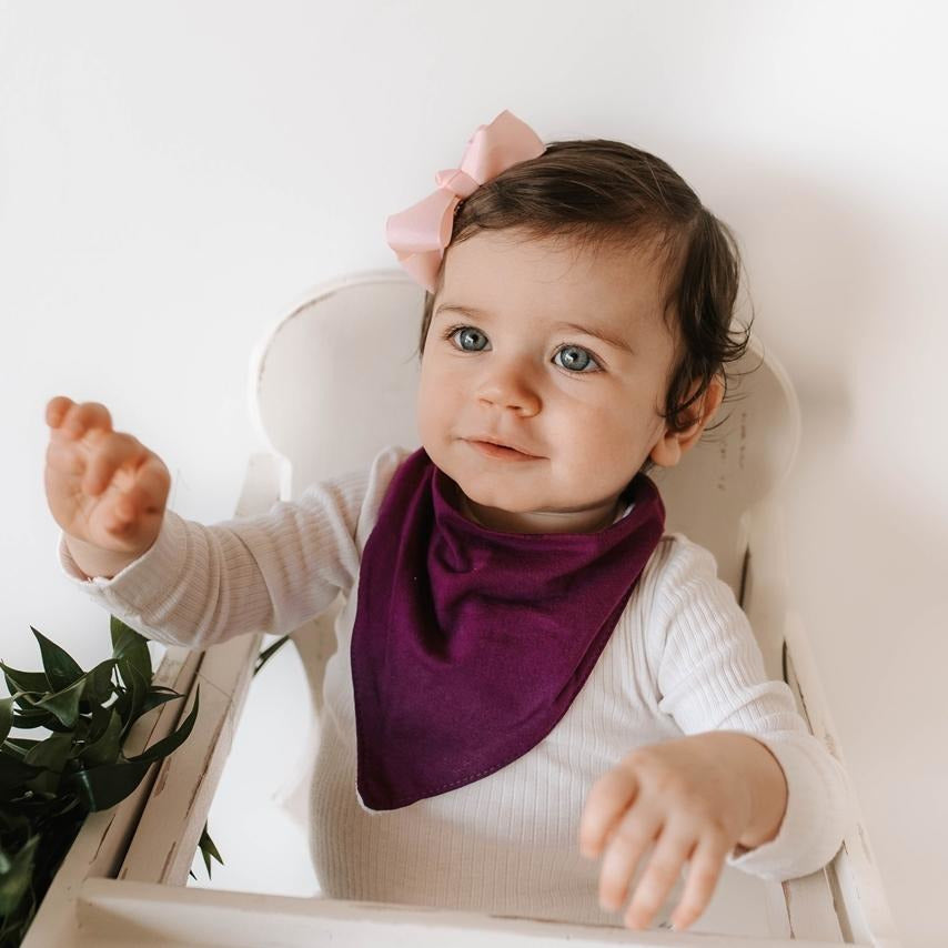 baby bandana dribble bib | purple fig - MUMMA + BUBBA COLLECTIVE
