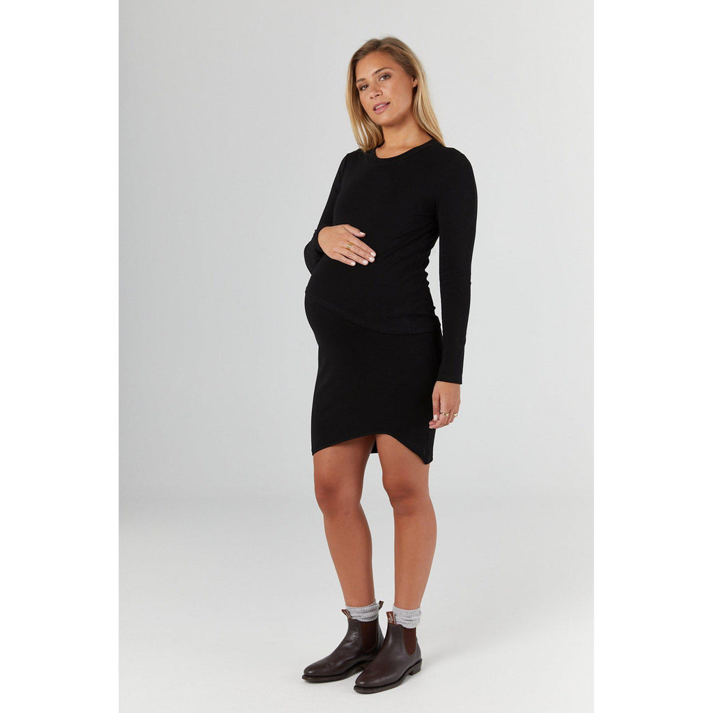 maternity + nursing dress | forever dress | black - MUMMA + BUBBA COLLECTIVE