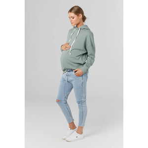 maternity + nursing hoodie | harvard hoodie | mineral green - MUMMA + BUBBA COLLECTIVE