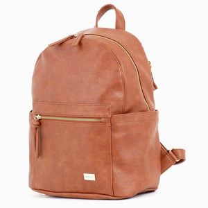 Nappy Backpack | Manhattan | Tan with Gold Hardware - MUMMA + BUBBA COLLECTIVE
