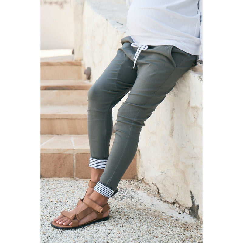 maternity pants | boston twill pant | washed khaki - MUMMA + BUBBA COLLECTIVE