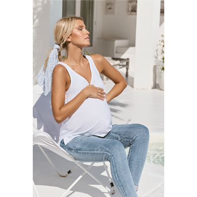 maternity + nursing tank | louis tank | white - MUMMA + BUBBA COLLECTIVE
