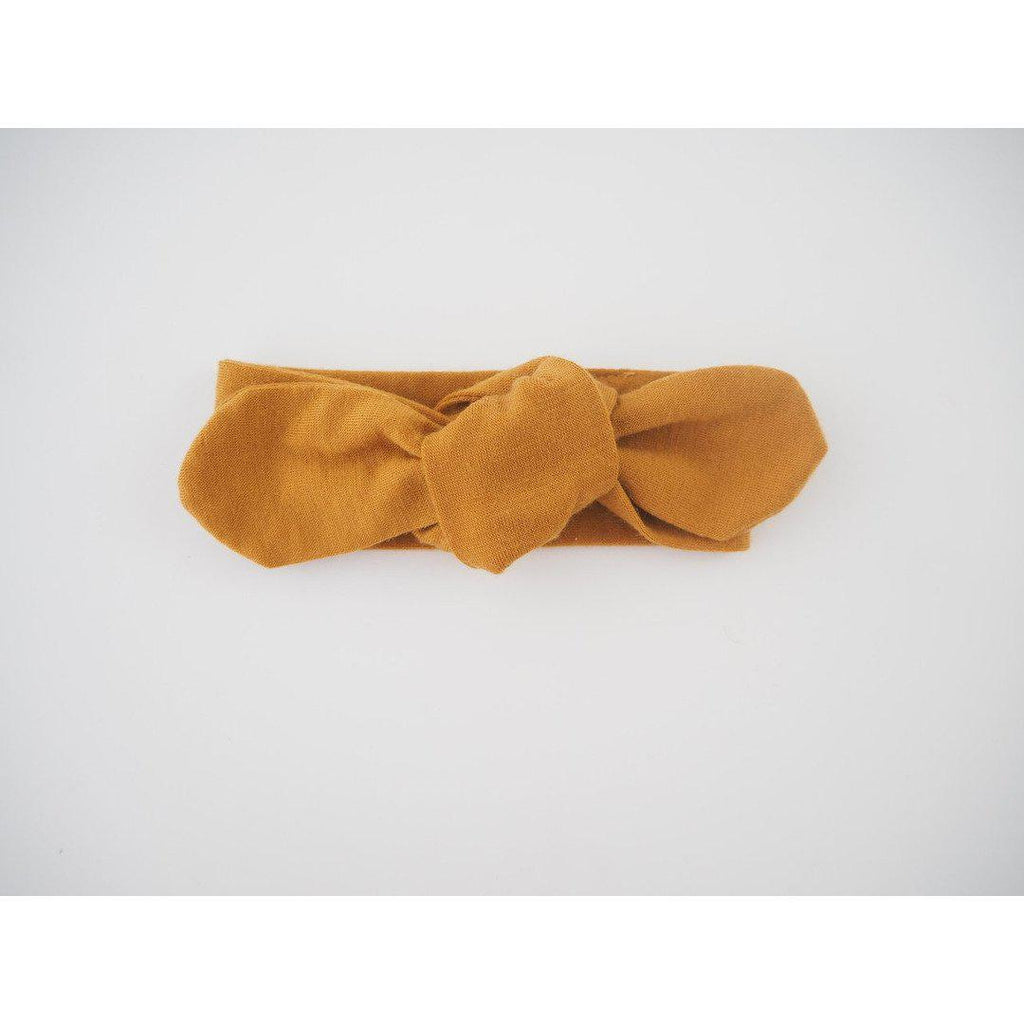 baby top knot headband | mustard - MUMMA + BUBBA COLLECTIVE