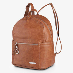 Nappy Backpack | Manhattan | Tan with Silver Hardware - MUMMA + BUBBA COLLECTIVE