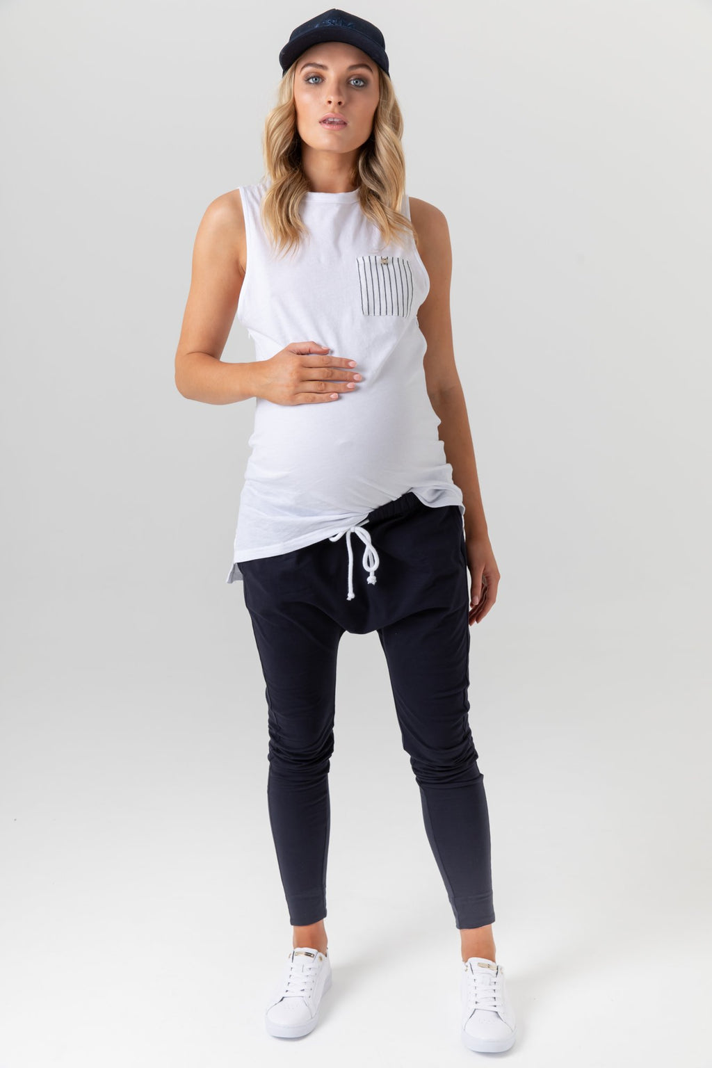 maternity + nursing tank | monarch tank | white - MUMMA + BUBBA COLLECTIVE