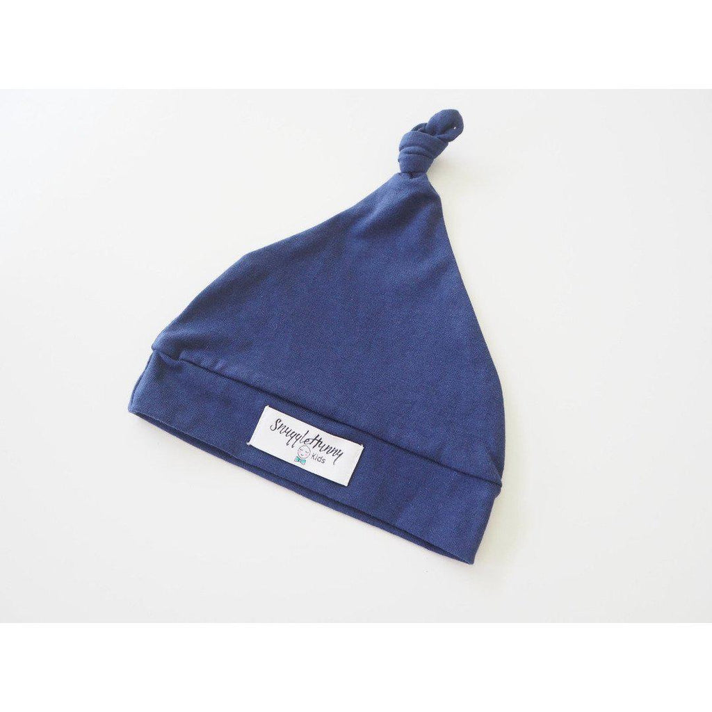 baby knotted beanie | navy - MUMMA + BUBBA COLLECTIVE
