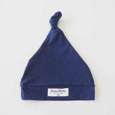 baby knotted beanie in navy - MUMMA + BUBBA COLLECTIVE