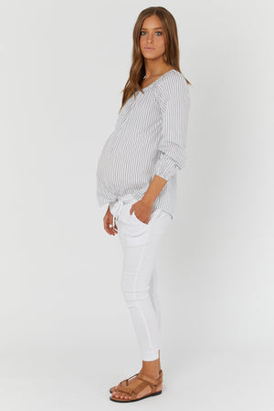 maternity top | off the shoulder top | stripe - MUMMA + BUBBA COLLECTIVE