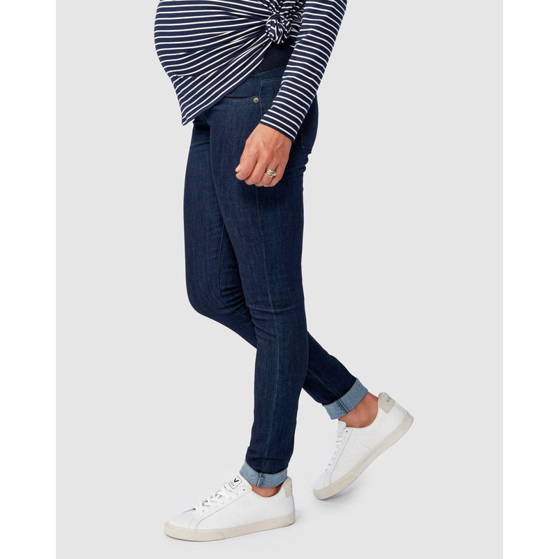 maternity over the belly denim | margot skinny jeans | ink wash - MUMMA + BUBBA COLLECTIVE