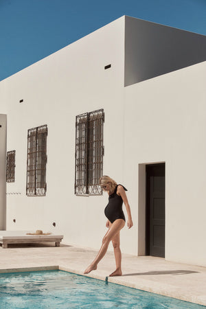 maternity bathers | palm springs one piece | black - MUMMA + BUBBA COLLECTIVE