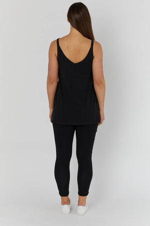 maternity + nursing tank | philadelphia tank | black - MUMMA + BUBBA COLLECTIVE
