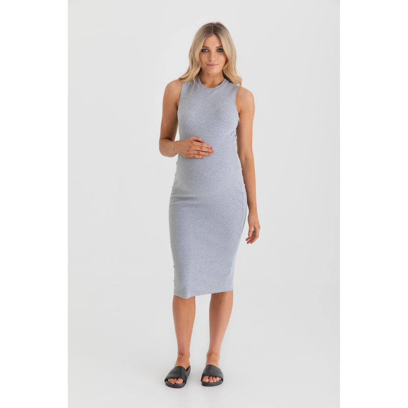 maternity + nursing dress | portugal | grey marle - MUMMA + BUBBA COLLECTIVE