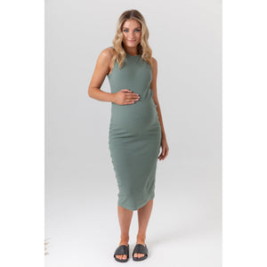 maternity + nursing dress | portugal | olive - MUMMA + BUBBA COLLECTIVE