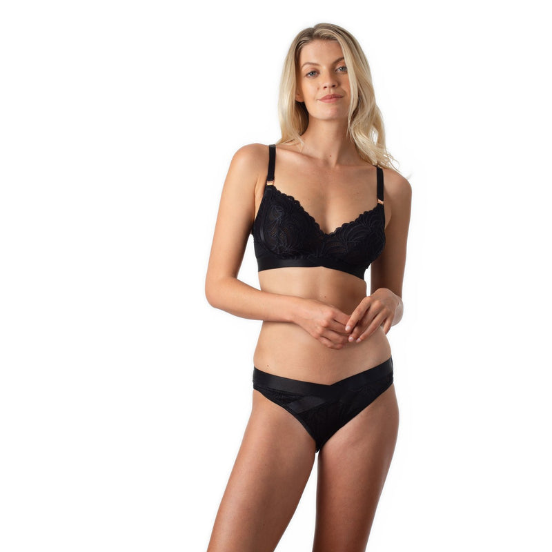 maternity + nursing bra | warrior soft cup bra | black - MUMMA + BUBBA COLLECTIVE