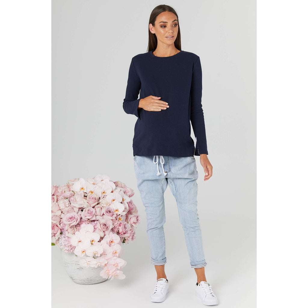 maternity + nursing jumper | rancho relaxo | navy - MUMMA + BUBBA COLLECTIVE