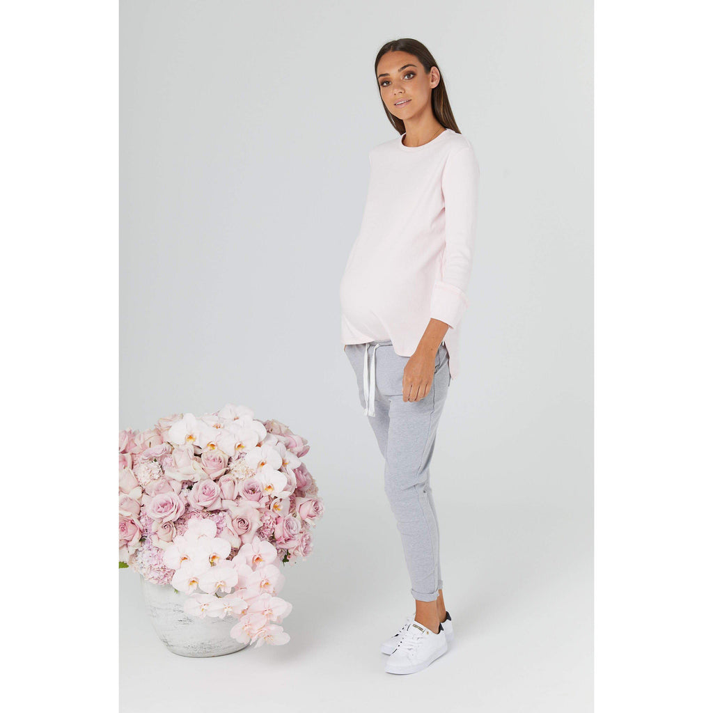 maternity + nursing jumper | rancho relaxo | pink stone - MUMMA + BUBBA COLLECTIVE