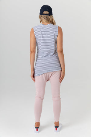 maternity + nursing tank | sicily tank | navy stripe - MUMMA + BUBBA COLLECTIVE