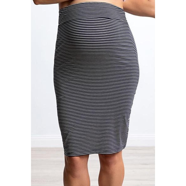 maternity skirt | over the bump | stripe - MUMMA + BUBBA COLLECTIVE