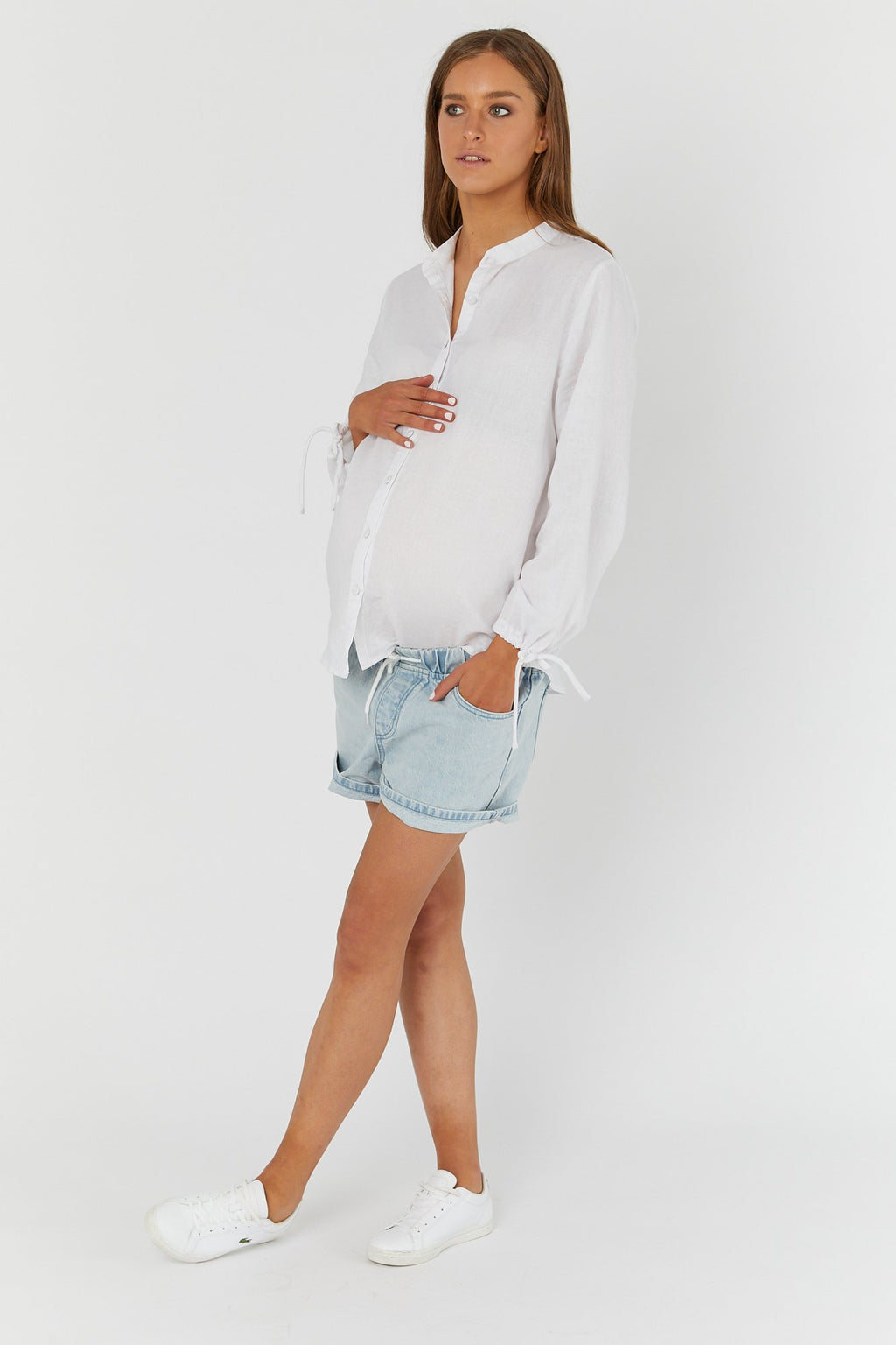 maternity denim shorts | mom denim shorties | ice - MUMMA + BUBBA COLLECTIVE