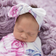 baby snuggle swaddle + top knot headband set | lilac skies