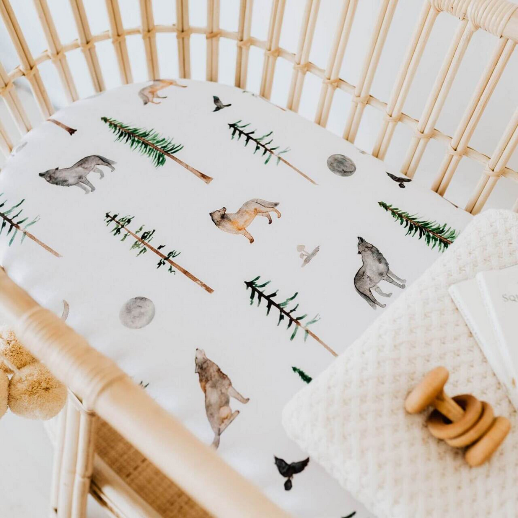 fitted bassinet sheet + change pad cover | alpha - Mumma + Bubba Collective.