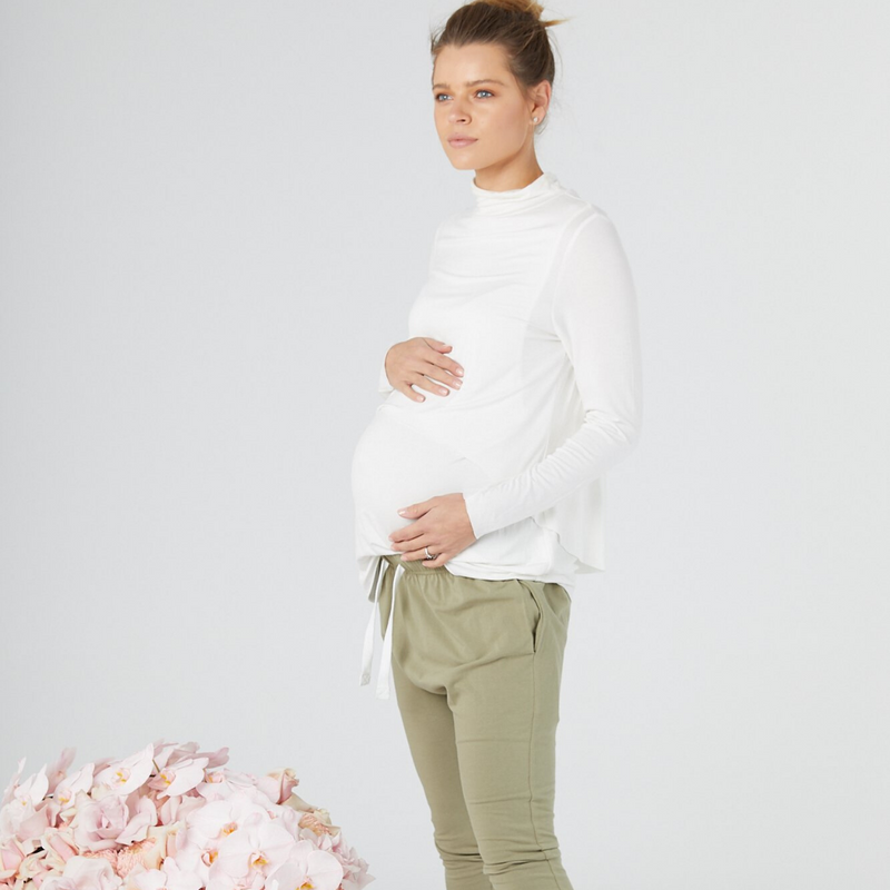 maternity lounge pants | aspen green - MUMMA + BUBBA COLLECTIVE