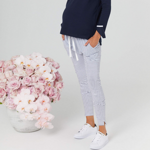 maternity lounge pants | stripe - MUMMA + BUBBA COLLECTIVE
