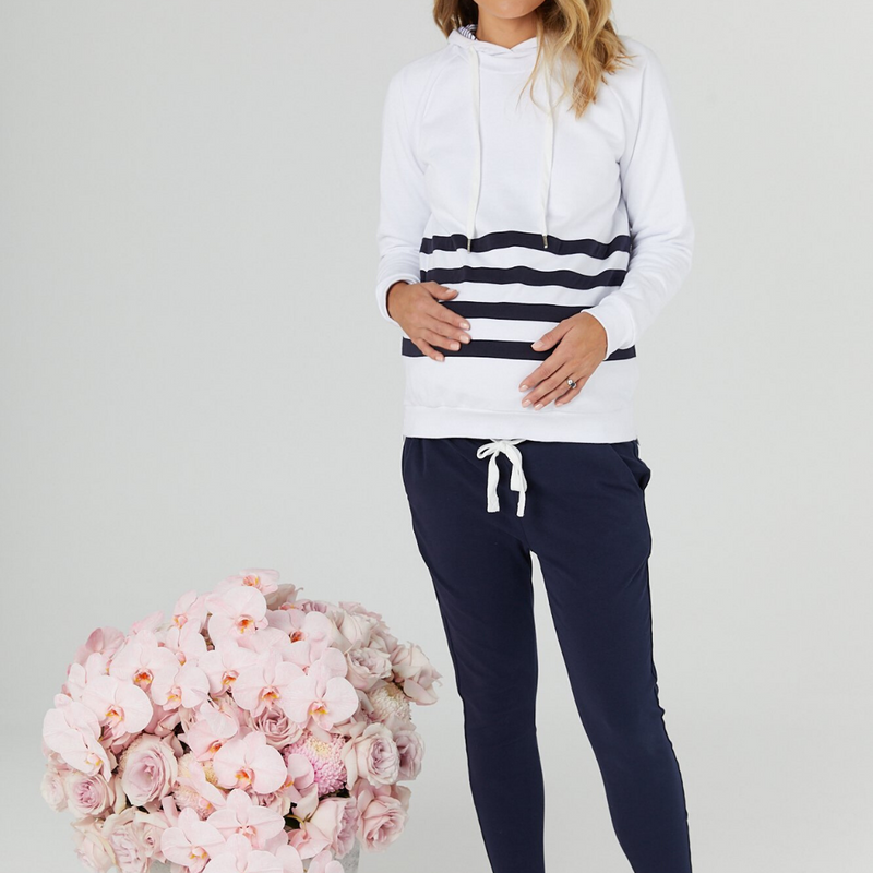 maternity jogger pants | milan | navy - MUMMA + BUBBA COLLECTIVE