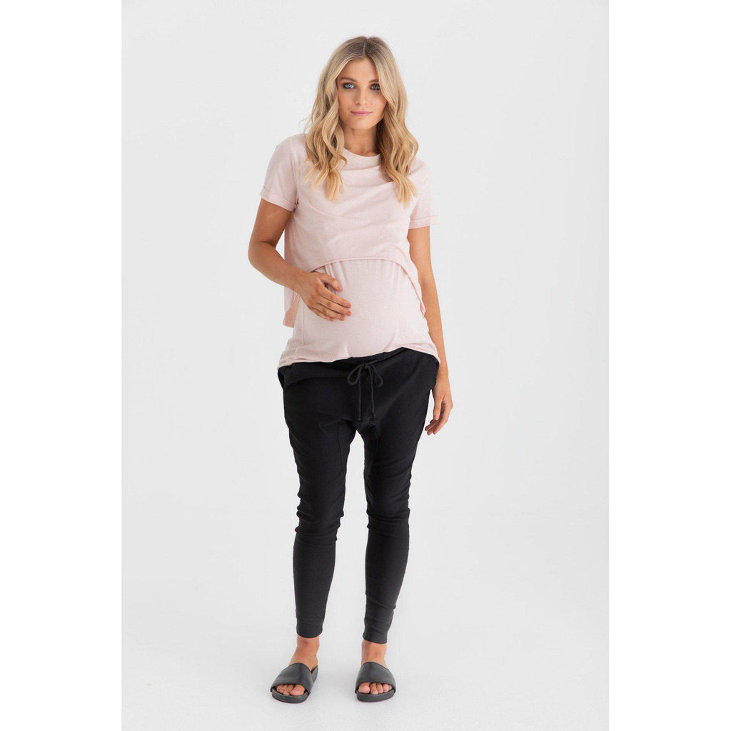 maternity + nursing tee | valance II  | blush - MUMMA + BUBBA COLLECTIVE