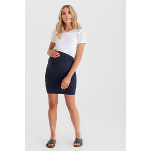 maternity + nursing tee | valance II | white - MUMMA + BUBBA COLLECTIVE