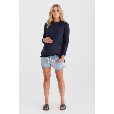 maternity denim shorts | shorties | saltwash denim - MUMMA + BUBBA COLLECTIVE